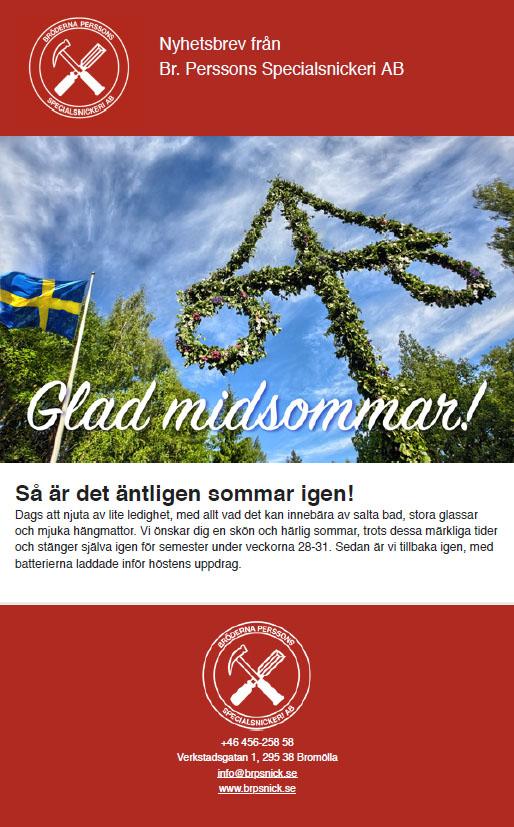 Bröderna Persson - Nyhetsbrev Juni 2020