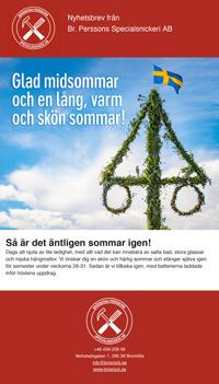 Glad midsommar önskar Bröderna Persson!